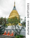 Golden Chedi At Wat Pan Ping ...