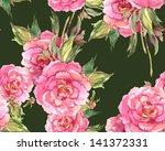 peonies seamless pattern | Shutterstock . vector #141372331