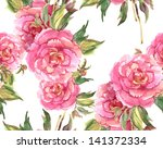 peonies seamless pattern   Shutterstock . vector #141372334