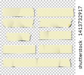 adhesive tape pieces set ... | Shutterstock .eps vector #1413732917