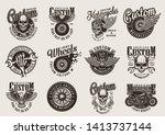 Vintage Monochrome Motorcycle...