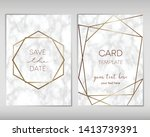 wedding invitation card design... | Shutterstock .eps vector #1413739391
