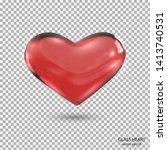 glass heart.realistic 3d heart... | Shutterstock .eps vector #1413740531