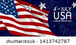 4th of july usa independence... | Shutterstock .eps vector #1413742787