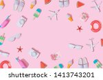 creative composition made with... | Shutterstock . vector #1413743201