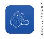 dental floss icon blue vector... | Shutterstock .eps vector #1413763007