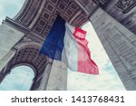 French flag at arc de triomphe...