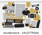 Vectors Set For Travel Diary...