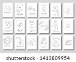 premium floral logo templates... | Shutterstock .eps vector #1413809954