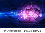 vector digital global... | Shutterstock .eps vector #1413818921