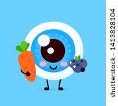 cute healthy happy human... | Shutterstock .eps vector #1413828104
