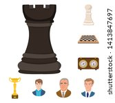 vector design of chess and game ... | Shutterstock .eps vector #1413847697
