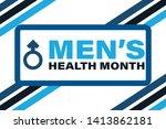 men's health month in june.... | Shutterstock .eps vector #1413862181