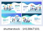 landing pages template set for... | Shutterstock .eps vector #1413867101