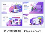 landing pages template set for... | Shutterstock .eps vector #1413867104