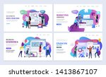 landing pages template set of...   Shutterstock .eps vector #1413867107