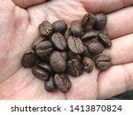 fresh roasted coffee beans on...   Shutterstock . vector #1413870824