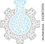 mesh chemical industry... | Shutterstock .eps vector #1413872054