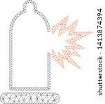 mesh condom damage polygonal...   Shutterstock .eps vector #1413874394