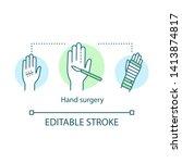 hand surgery concept icon....   Shutterstock .eps vector #1413874817