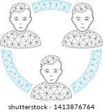 mesh connected social members... | Shutterstock .eps vector #1413876764