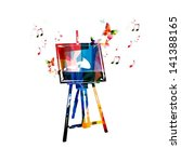colorful vector easel... | Shutterstock .eps vector #141388165