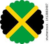 jamaica flag illustration... | Shutterstock .eps vector #1413883487