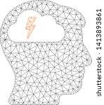 mesh brainstorming polygonal... | Shutterstock .eps vector #1413893861
