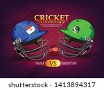 illustration of cricket... | Shutterstock .eps vector #1413894317