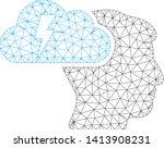 mesh brainstorming polygonal... | Shutterstock .eps vector #1413908231