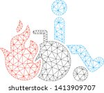 mesh burn patient polygonal...   Shutterstock .eps vector #1413909707