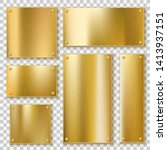 golden plates. gold metallic...   Shutterstock .eps vector #1413937151