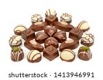 assortment of chocolate candies ... | Shutterstock . vector #1413946991