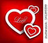 vector illustration of hearts... | Shutterstock .eps vector #141395599