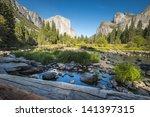landscape view of yosemite... | Shutterstock . vector #141397315
