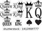 king and queen signs set ... | Shutterstock .eps vector #1413989777