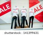 window display with text sale... | Shutterstock . vector #141399631