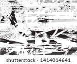 distressed background in black... | Shutterstock .eps vector #1414014641