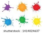 paint splashes vector... | Shutterstock .eps vector #1414024637