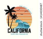 california slogan for t shirt... | Shutterstock .eps vector #1414030487
