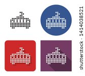 dotted icon of tram in four... | Shutterstock . vector #1414038521