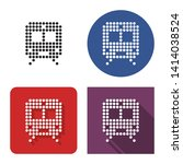 dotted icon of train in four... | Shutterstock . vector #1414038524