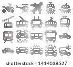 dotted icons set of some... | Shutterstock . vector #1414038527