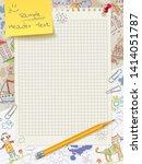 template for design in children'... | Shutterstock .eps vector #1414051787