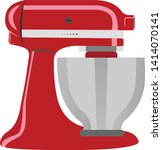 red stand mixer vector... | Shutterstock .eps vector #1414070141