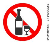 don't drink alcohol icon.... | Shutterstock .eps vector #1414070651