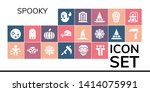spooky icon set. 19 filled... | Shutterstock .eps vector #1414075991