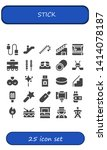 stick icon set. 25 filled stick ...   Shutterstock .eps vector #1414078187