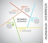 business infographics  pentagon ... | Shutterstock .eps vector #1414090124