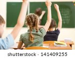 school children in classroom at